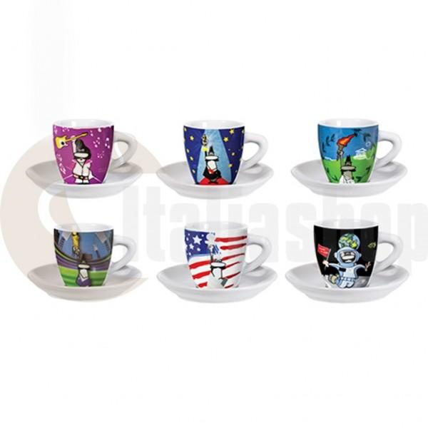 Bialetti Порцеланови Чаши За Кафе Eventi 6 Броя