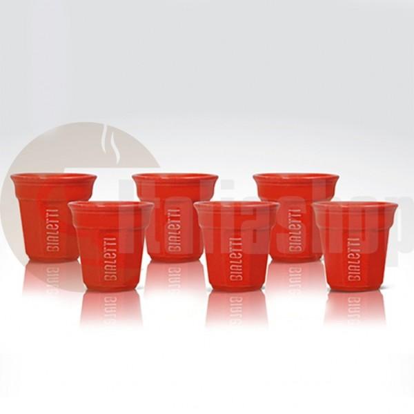 Bialetti Керамични Чаши За Кафе Червен Цвят, 6 Броя