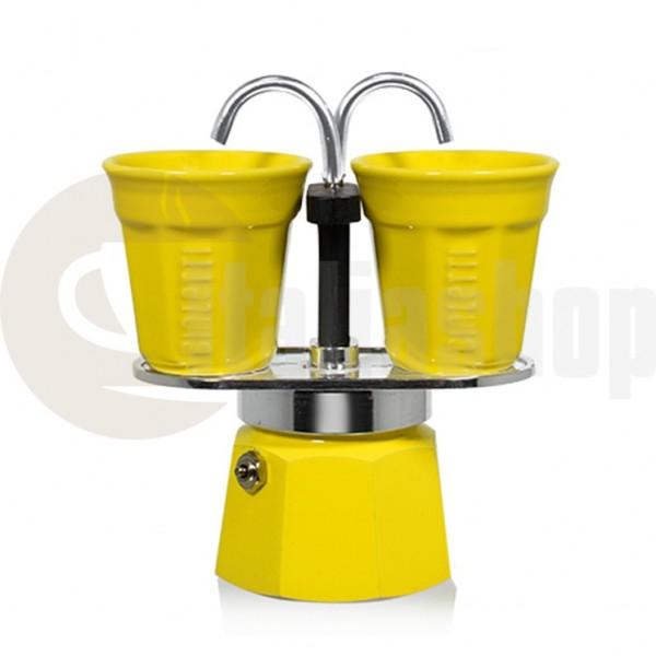 Bialetti Mini Express за 2 чаши, цвят жълт