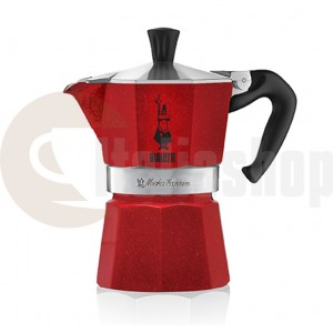 Bialetti Moka Express за 6 чаши, цвят Червен