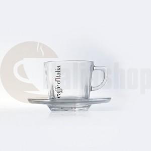 Комплект стъклени чаши за капучино Caffe D`Italia