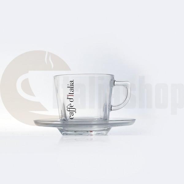 Caffè D'italia Комплект Стъклени Чаши За Капучино