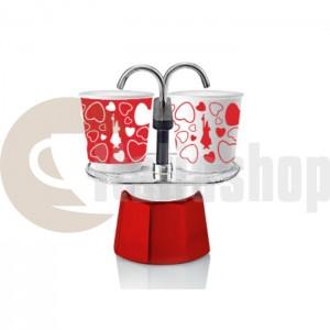 Bialetti Cuore За 2 Чаши В Лимитиран Цвят Червено И Бяло