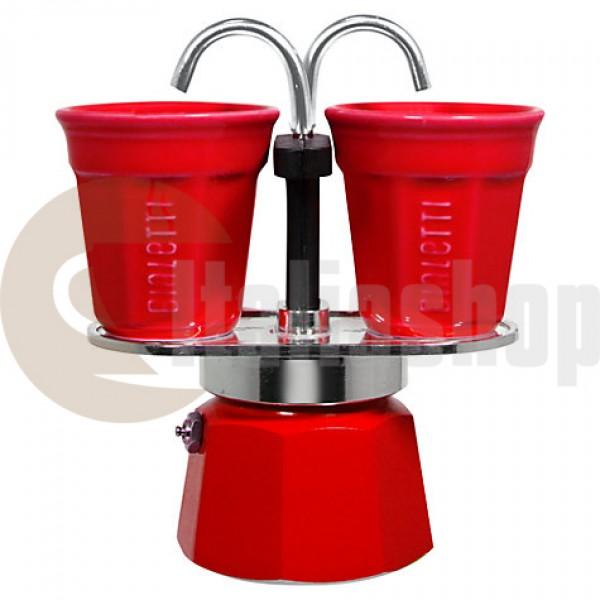 Bialetti Mini Express За 2 Чаши, Цвят Червен