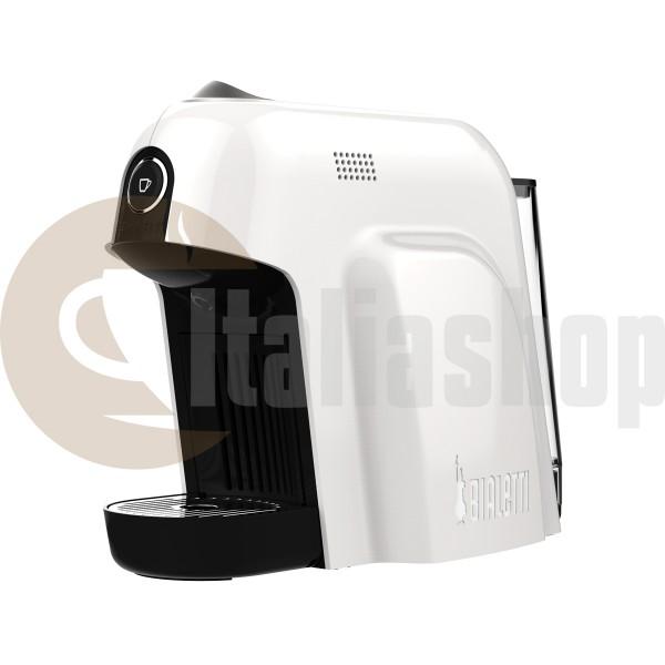 Bialetti Smart Кафе Машина, Цвят-бял,налягане 20 Бара + 1 кутия луксозни сладки Bocconotto + 32 капсули