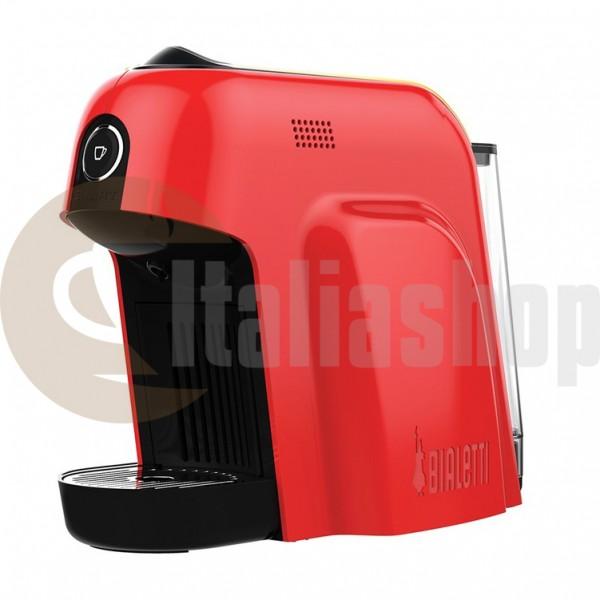 Bialetti Smart Кафе Машина, Цвят-червен,налягане 20 Бара + 1 кутия луксозни сладки Bocconotto + 32 капсули