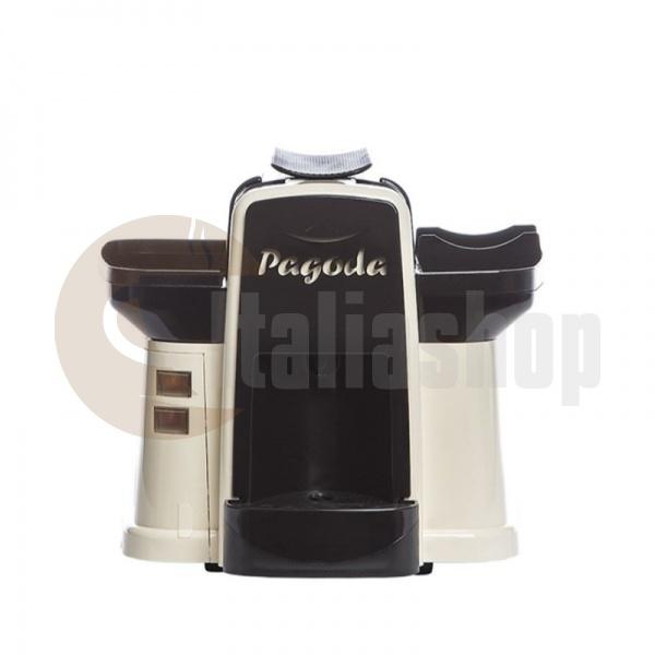 Pagoda kафе машина Lavazza Point цвят бял + 1000 капсули Мануел + 1 козунак