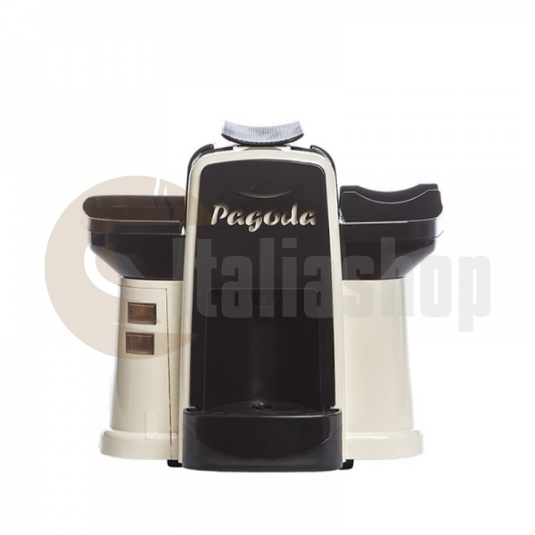 Pagoda kафе машина Lavazza Point цвят крема + 1000 капсули Мануел