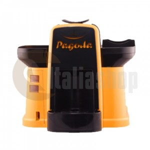 Pagoda kафе машина Lavazza Point цвят жълт + 1000 капсули Мануел + 1 козунак