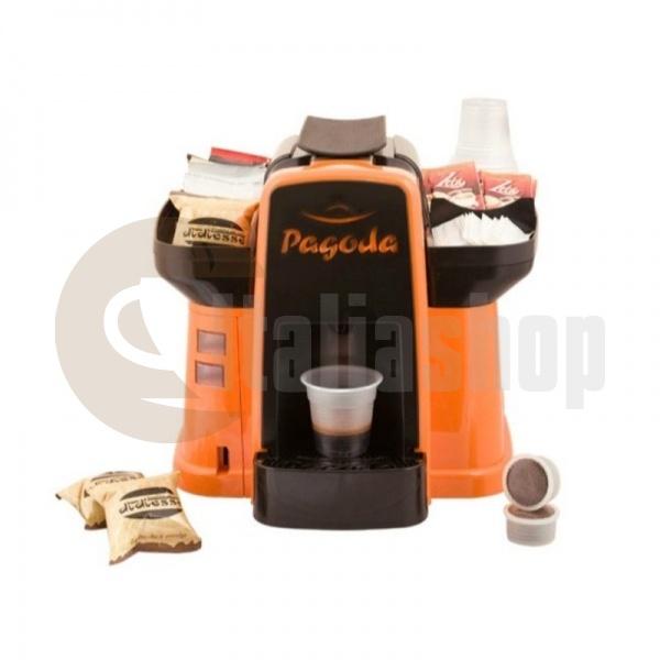 Pagoda kафе машина Lavazza Point цвят оранжев + 1000 капсули Мануел + 1 козунак