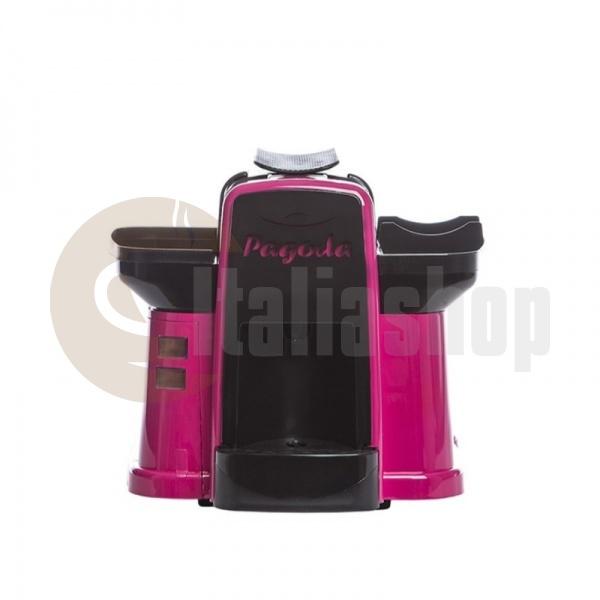 Pagoda kафе машина Lavazza Point цвят розов + 1000 капсули Мануел