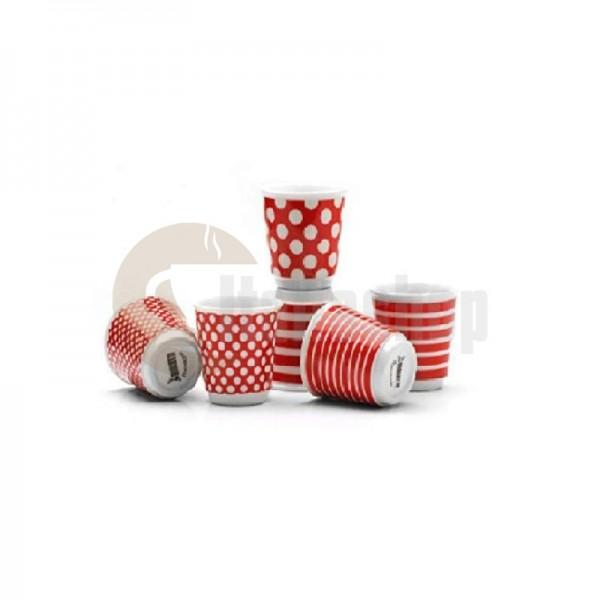 Bialetti комплект 6 чаши поп червено 1274
