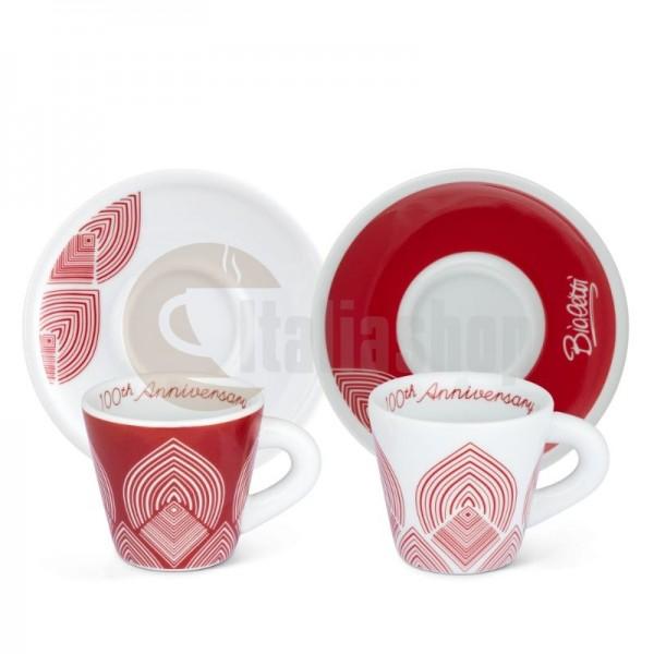 Bialetti Centenario Порцеланови чаши с чинийки 2 бр