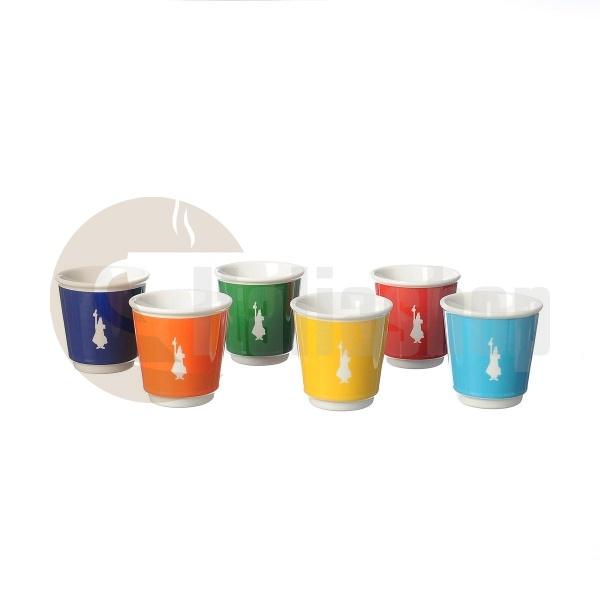 Bialetti Il Bicchierino Чаши За Кафе Различни Цветове- 6 Бр., Вместимост 100-120 Мл.