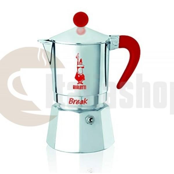 Bialetti Break Кафеварка За 3 Чаши, Червенa