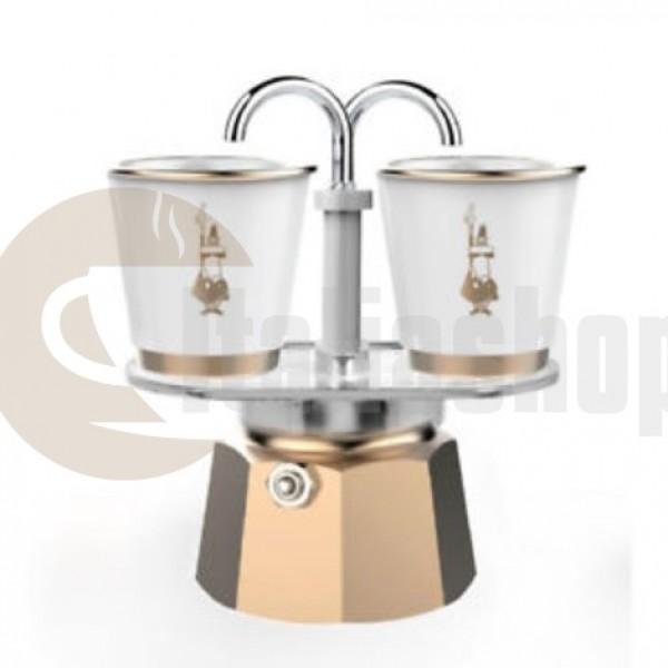 Bialetti Mini Express 3507 за 2 чаши, цвят златно-бял