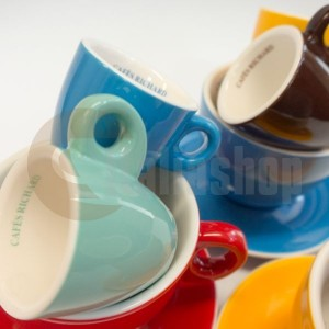 Cafes Richard комплект цветни еспресо чаши, 6бр