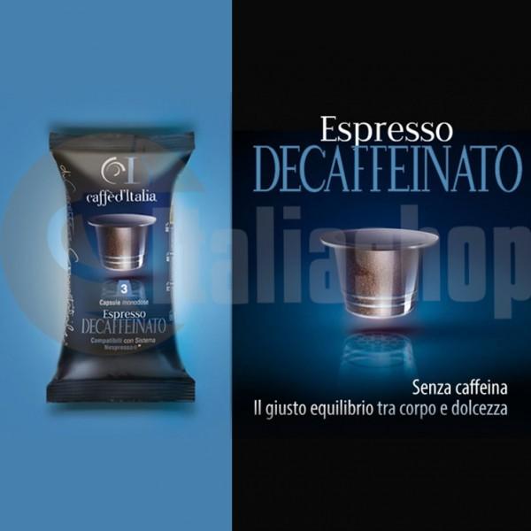 Nespresso Съвместими Капсули  Caffè D'italia Decaffeinato 40 Бр.
