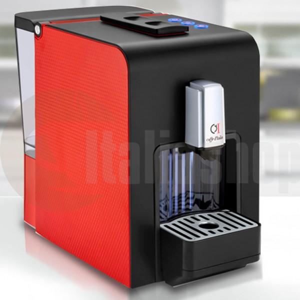 Caffè D'italia Chikko италианска кафе машина + 15 капсули микс + метална кутия за капсули